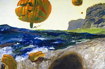 Jamie Wyeth, The Headlands of Monhegan Island, Maine, 2007, oil on canvas.
