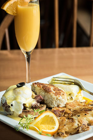 Eggs Benedict and a Mimosa! YUM!