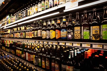 Wall O' Beer Wegmans boasts over 800 selections of domestic and imported beer!